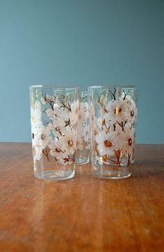 1950's Dogwood Glasses