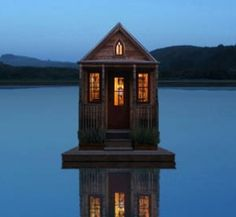 Tiny house on a lake