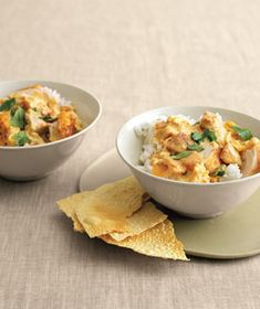 Chicken Curry in a Hurry - one of our absolute favorite dishes!  We don't use tomato or cilantro.  Delish!