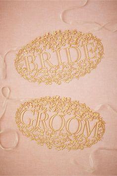 product | Bride & Groom Banners fem BHLDN | laser cut details