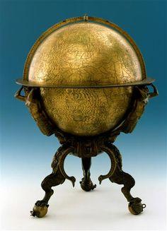 Erdglobus Prätorius, Johannes (1537-1616)|Globenhersteller Nürnberg, 1568 Mathematisch-Physikalischer Salon
