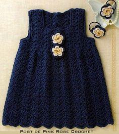 Crochet dress, free chart pattern.