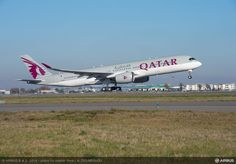 Qatar A350 taking of