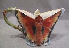 Royal Bayreuth Butterfly Cream or Milk Pitcher