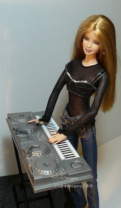 Barbie checking out the synthesizer | Flickr - Photo Sharing!