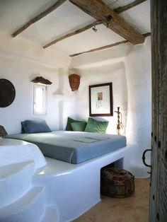 organic bedroom - mediterranean style