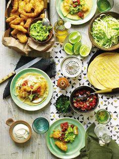 Fish Tacos with Pico de Gallo, Cabbage, and Lime Crema | SAVEUR