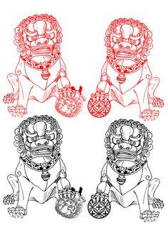 Fu_Dogs_Tattoo_by_angeldevilland.jpg (600×856)