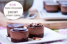 raw vegan chocolate cream cakes