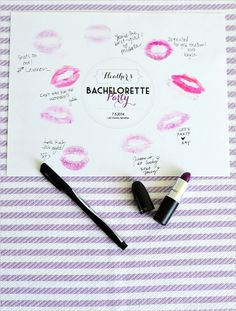 Free printable bachelorette party invitation suite with easy DIY Favor Idea and more! #weddingchicks http://www.weddingchicks.com/2014/08/05/easy-bachelorette-party-favors/