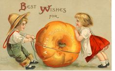 vintage thanksgiving postcard.