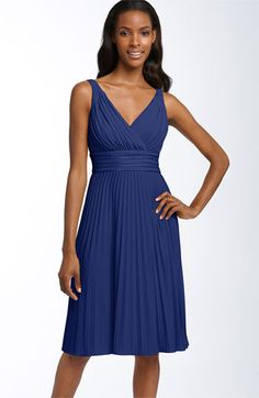 Suzi Chin for Maggy Boutique Pleated Jersey Dress