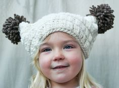 The Sierra Pom-Pom Hat -Toddler, Child, & Adult Sizes