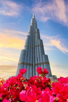 Different view of Burj Khalifa, the tallest building in the world. Dubai, By Alika