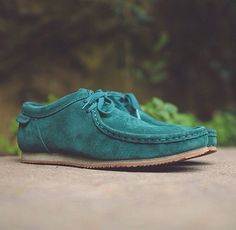 Clark's Wallabee Run (Teal)