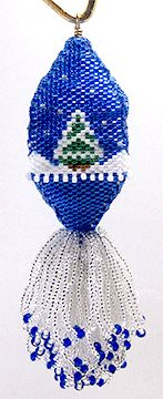 Oh Christmas Tree Beaded Ornament Cover Pattern by Brisingamen at Bead-Patterns