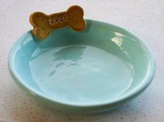 Personalized Dog Bowl Dish  7 inches  Custom by sunshineceramics, $26.00