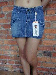 """KUYICHI denim mini skirt howie outfitters 28"""" £16.99"""