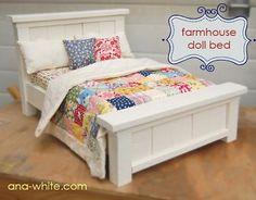 farmhouse doll bed