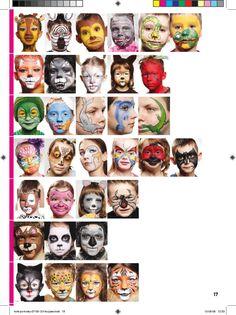 www.szkolamakijazu.com face paint, paint book