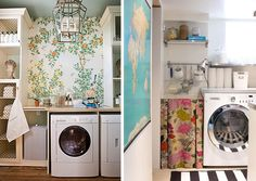 Laundry Rooms // Gracie Wallpaper
