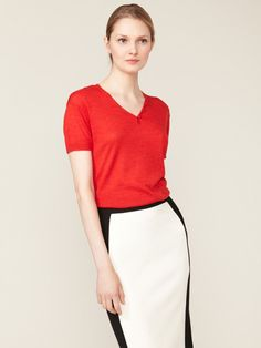 Knit Button Top and blocked skirt by Narciso Rodriguez on Gilt.com