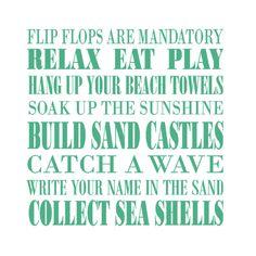 Beach {House} Rules~