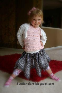 bandanna skirt, sewing machines, cowgirls, skirts, sun scholar, 4th of july, 3rd birthday, handkerchief, blues
