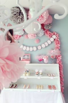 pink white and grey - Ideas for baby's room