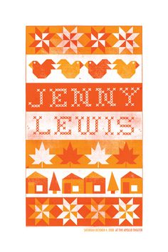 Jenny Lewis Gig Poster
