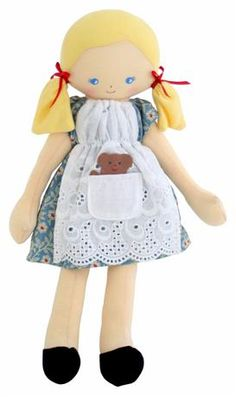 Oh so sweet Goldilocks doll! Complete with little bear in her front pocket!