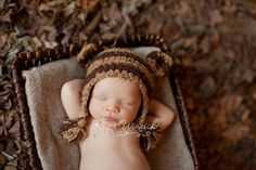Monkey Brown Baby Hat Photography Prop Ready Item $17