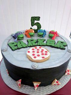 birthday parti, mutant ninja, bday, teenag mutant, ninja turtles, parti idea, ninja turtle birthday, turtl cake, birthday cakes