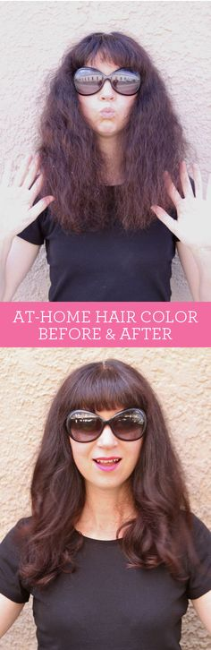 Before & After: Using Hair Color at Home.