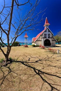 Church   Ile Maurice - Mauritius: This is in Cap Malheureux at 70 minutes + drive from Tamarin Beach Apartments Mauritius. Head Of Garlic, Mauritius Churches, Red Churches, Beauty, Beach, Churches Cap,  Cap Malheureux, Apartments, Malheureux Mauritius