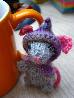 Cute Knitted Mouse