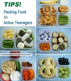 Packing food for active teens - with @EasyLunchboxes