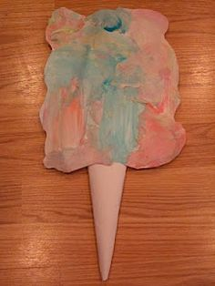 Pretend Cotton Candy Art Activity for Kids! Bring the best part of the circus to your home :) What circus crafts have you done?