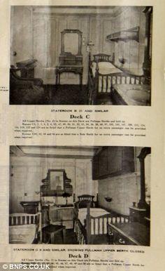 Titanic C & D Deck Rooms