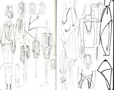 Fashion Design Sketchbook - fashion sketches & garment structure development; creative process // Justine W. Lee