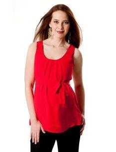 $19.99 Sleeveless Sash Belt Maternity Blouse