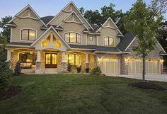 craftsman houses, 56 bedroom, dream homes plans, hous plan, basement, floor plans, dream houses, dream home plans, house plans