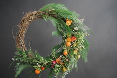 Welcome the Holidays   Modern Wreath   Rue