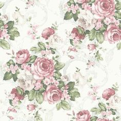 Vintage floral wallpaper II