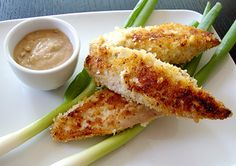 panko crusted chicken with peanut sauce
