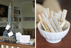 clothes pin - baby shower idea
