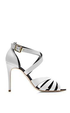 Joan Cage Front Leather Sandals by Rupert Sanderson Now Available on Moda Operandi