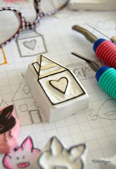 So easy and fun to carve your own stamps...I need to get out my carving tools again!