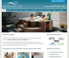 Hot tubs Wales website - designed and built by Coventry web design company, Design One For Me