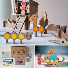 Etsy Finds: Cardboard Jungling Craft Kit for Kids